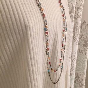 American Eagle 2-strand multicolored necklace